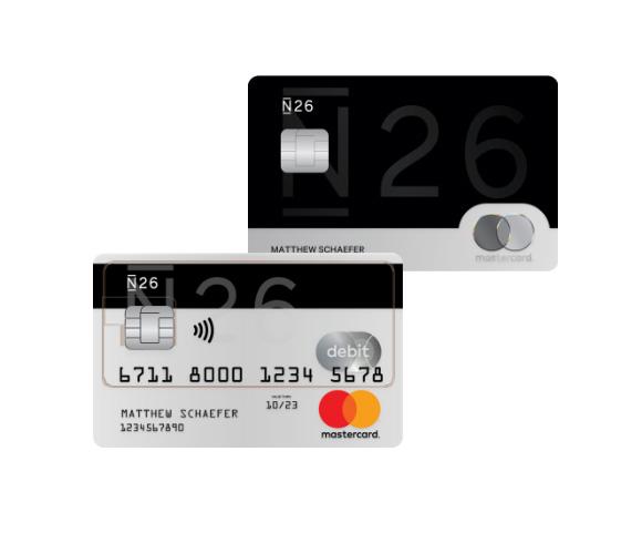 Os cartões do banco N26